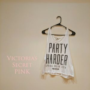 Victoria's Secret PINK Party Harder crop tank top